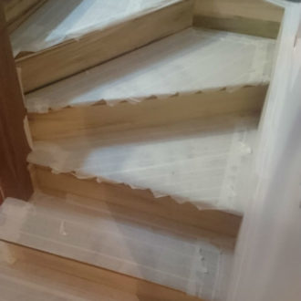 stairs painting work by bp decorators co longford