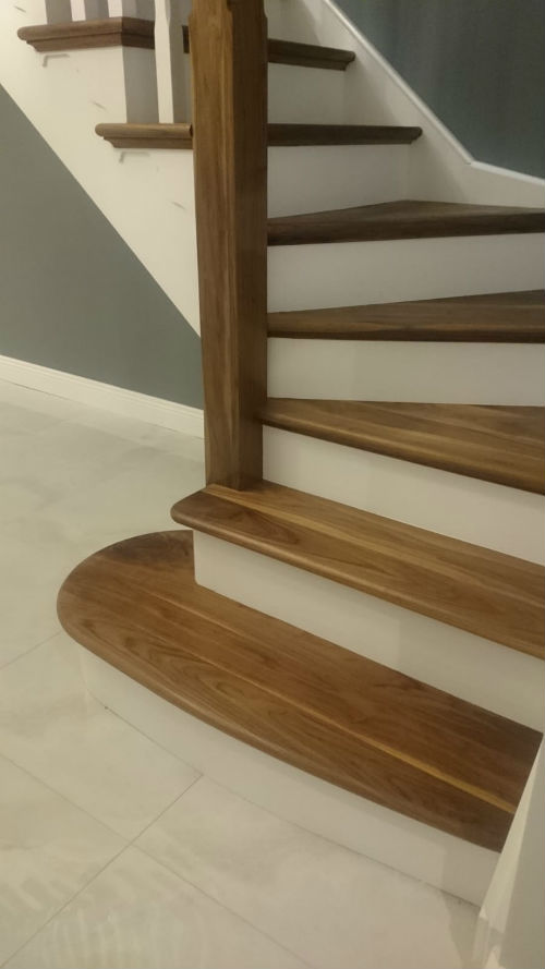 staircase painting work by bp painters and decorators co longford