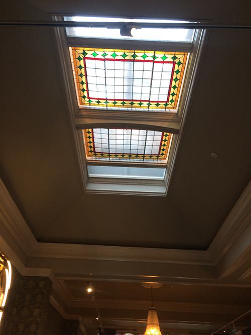 ceiling painting work by bp decorators at the fleet street hotel dublin