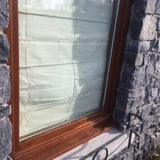 wooden window frame renovated by bp decorators co longford
