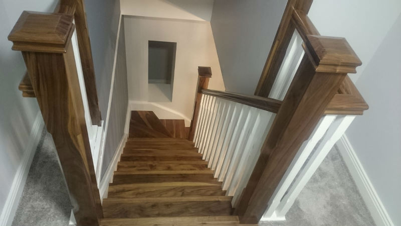 staircase painting work by bp decorators county longford ireland