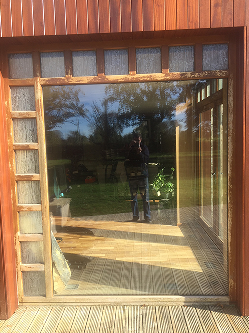 wooden frame before renovation by bp decorators co longford