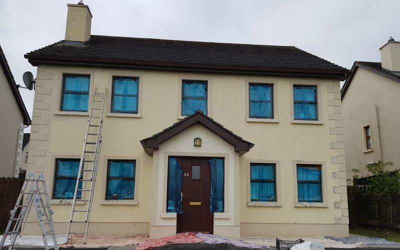 before house repainting work by BP decorators