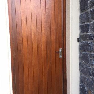 wooden door renovated by bp painters and decorators co.longford