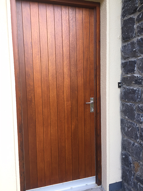 wooden door renovated by bp painters and decorators co.longford