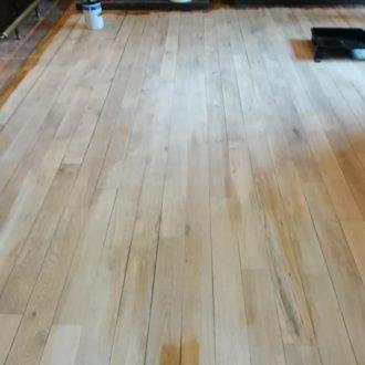 wooden floor before restoration