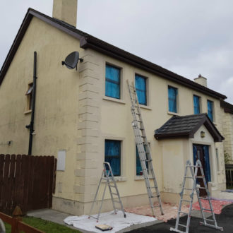 House in Co. Longford before repainting work by bp painters and decorators