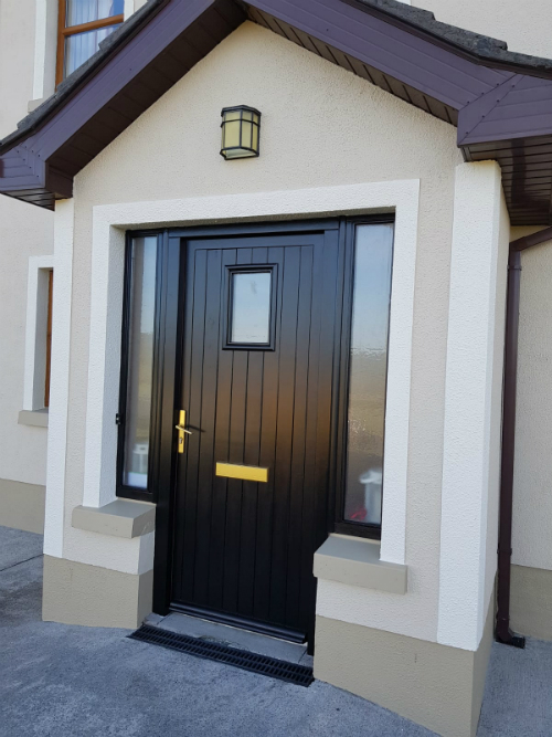 repainted house main door by BP decorators