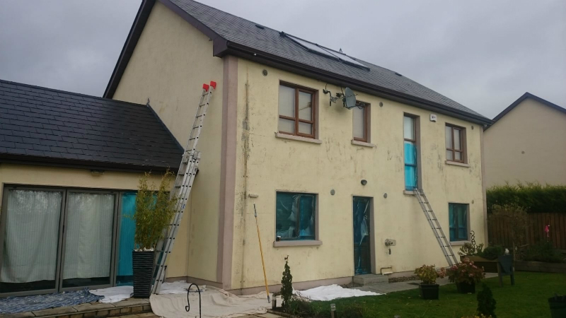 House in its original state before our painting work by bp painters and decorators