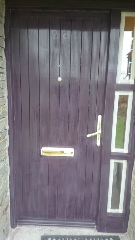 house main door before bp painters and decorators painting work