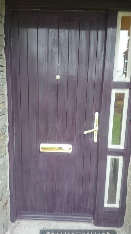 house main door before bp painters and decorators painting work