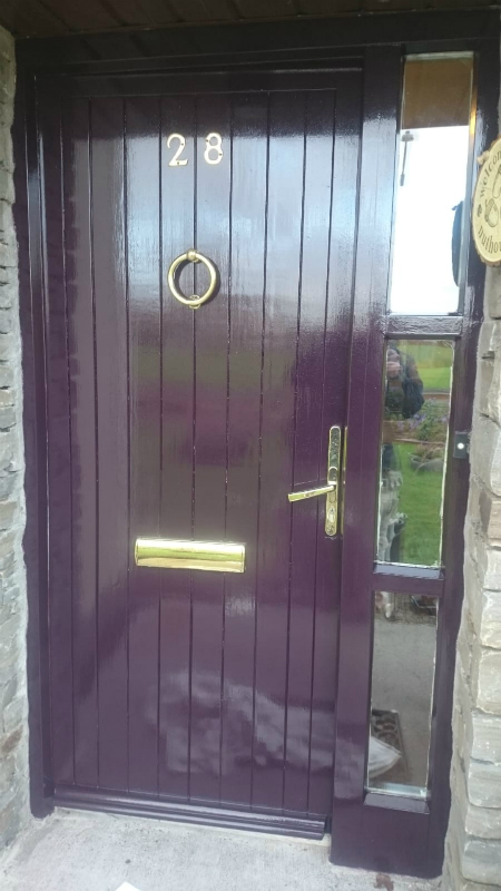 house main door after renovation by bp painters and decorators