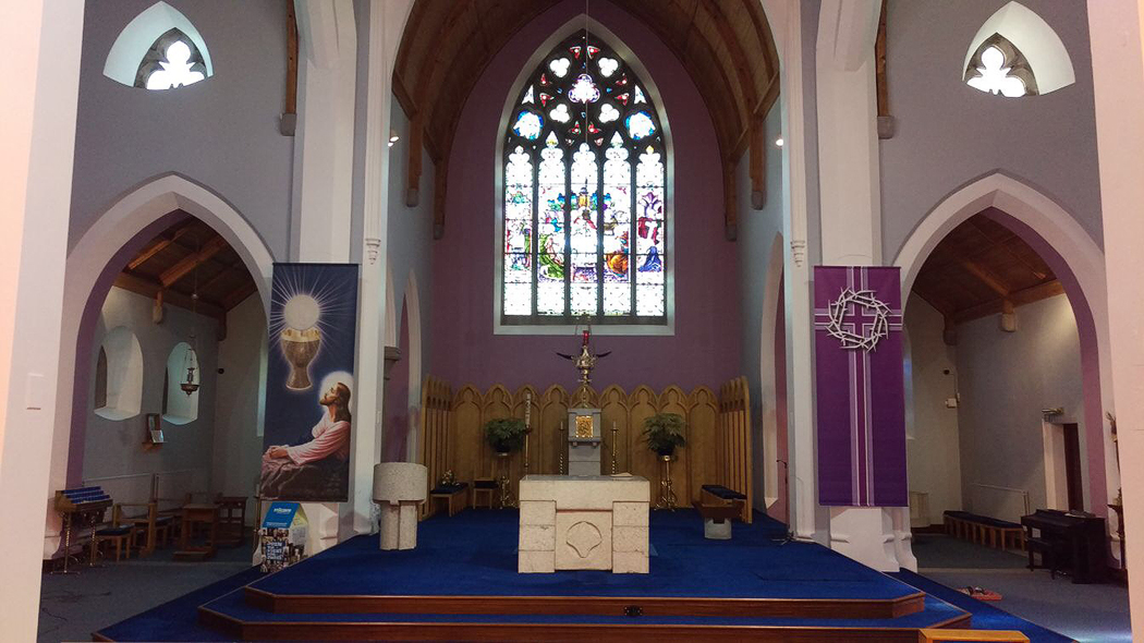 church's indoor painting by BP Decorators