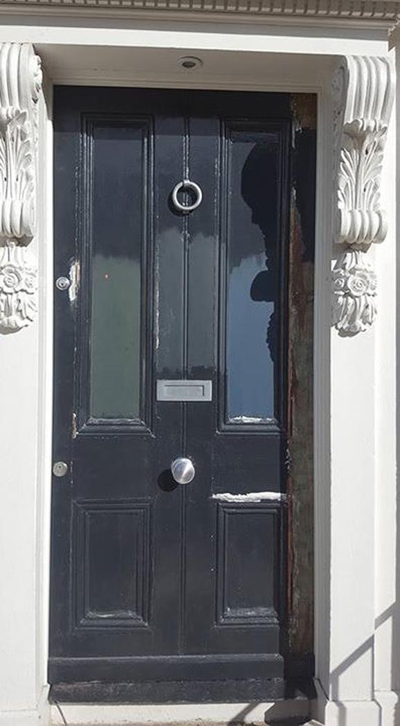 main door painting by BP Decorators