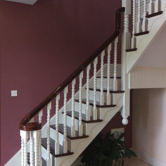 home stairs decorating by BP Decorators