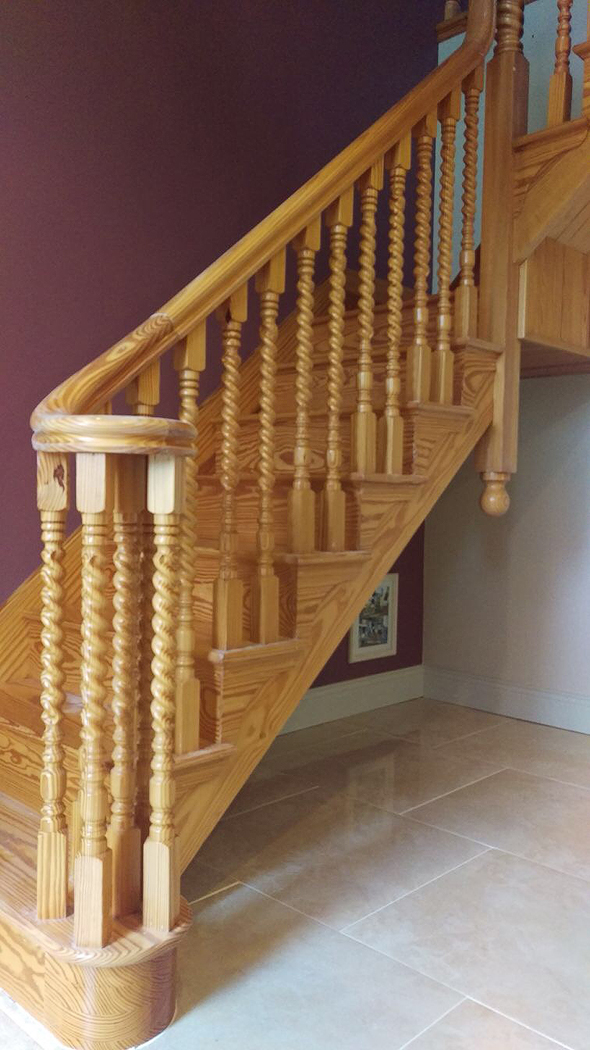 home stairs painting by BP Decorators