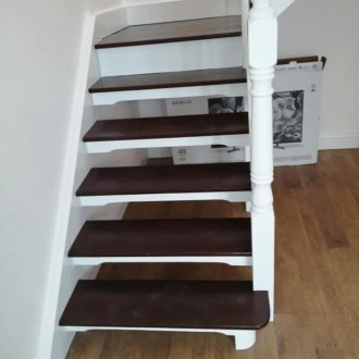 stairs renovated by bp painters and decorators